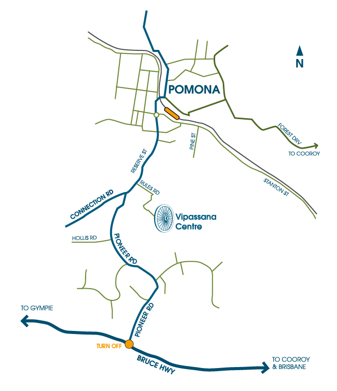 Location map for the Vipassana Centre Queensland